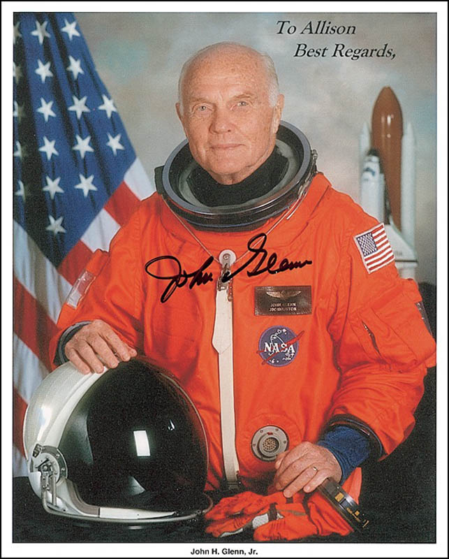 Image 1 for John Glenn - Autographed Inscribed Photograph - HFSID 276671