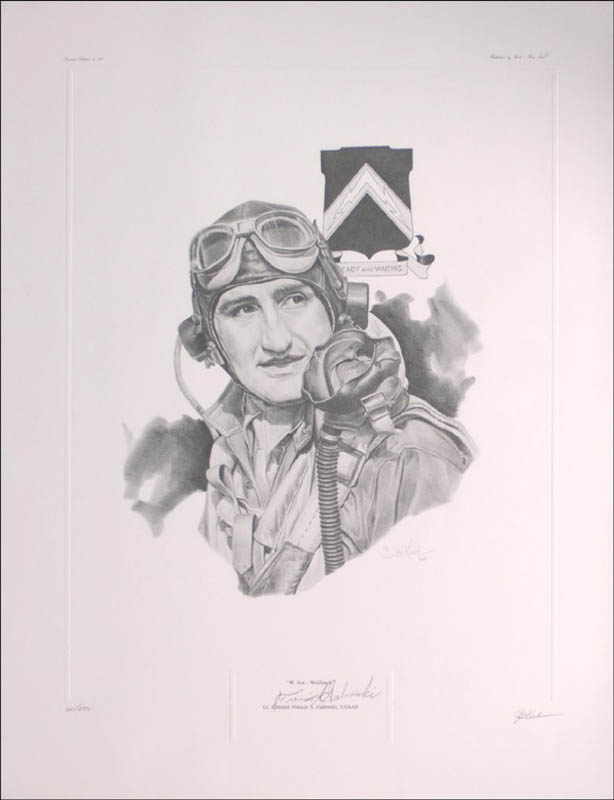Image 1 for Colonel Francis S. 'Gabby' Gabreski - Printed Art Signed co-signed by: J. G. Keck - HFSID 276684