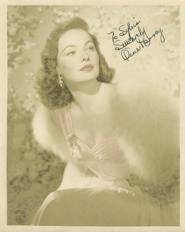Image 1 for Gene Tierney - Autographed Inscribed Photograph - HFSID 276737