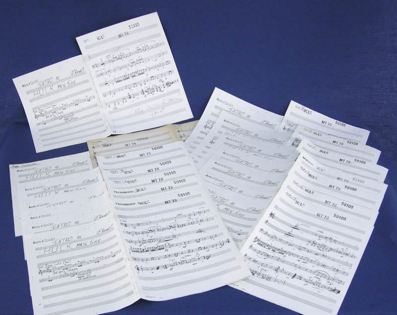 Image 3 for The Incredible Hulk TV Cast - Autograph Musical Manuscript Signed co-signed by: Joe Harnell - HFSID 276755