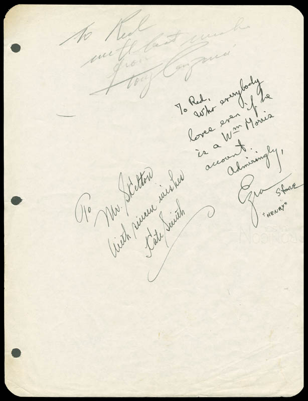 Image 1 for Kate Smith - Autograph Note Signed co-signed by: Tony Canzoneri, Ezra Stone - HFSID 276797