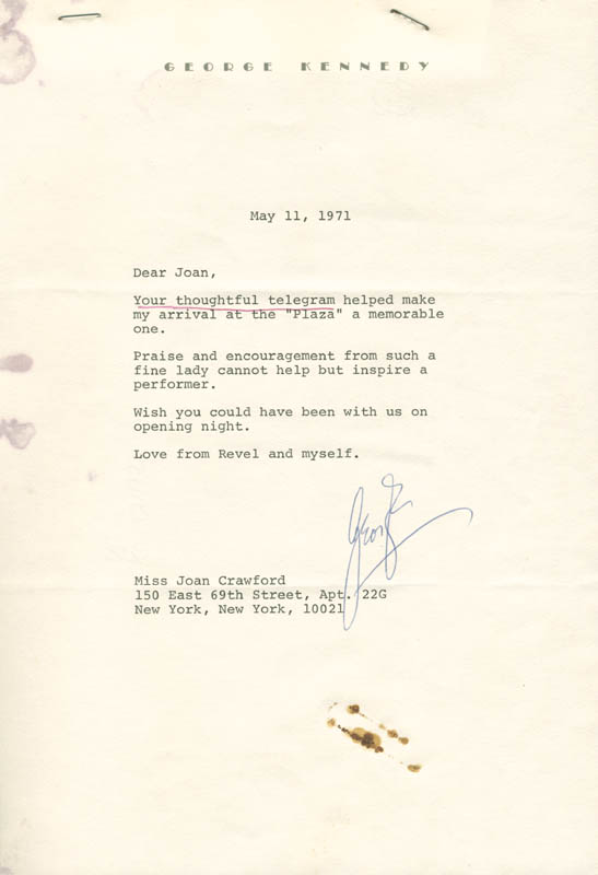 Image 1 for George Kennedy - Typed Letter Signed 05/11/1971 - HFSID 276811