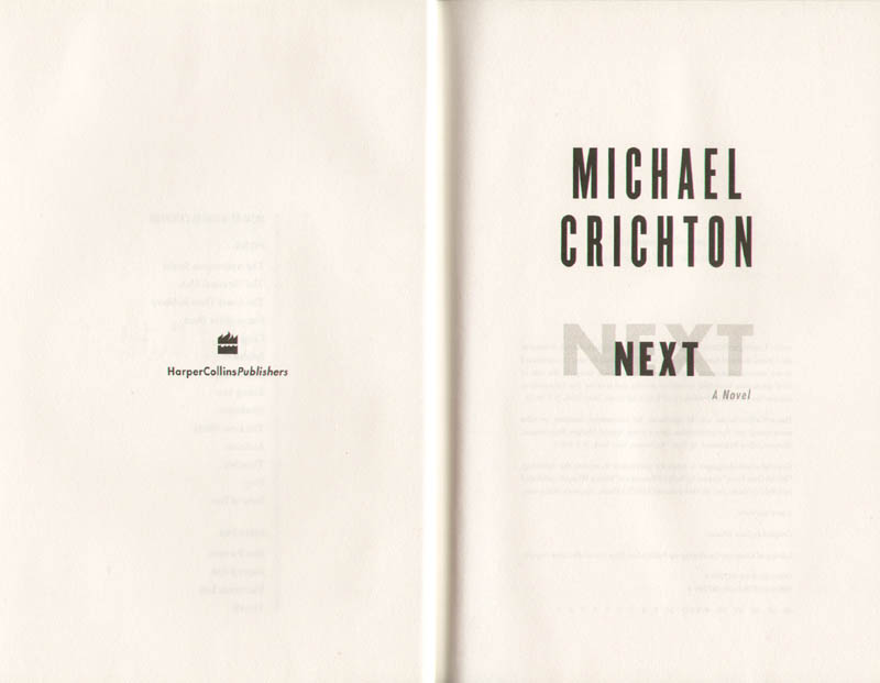Image 4 for Michael Crichton - Book Signed Circa 2006 - HFSID 276878
