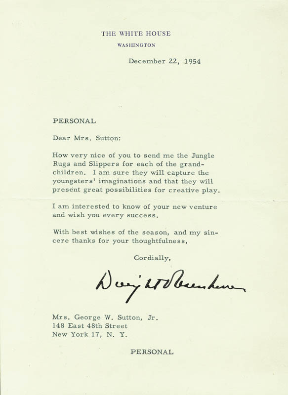 Image 1 for President Dwight D. Eisenhower - Typed Letter Signed 12/22/1954 - HFSID 27692