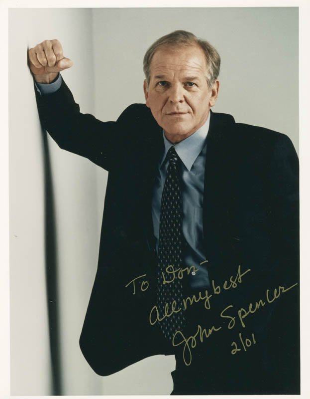 Image 1 for John Spencer - Autographed Inscribed Photograph 02/2001 - HFSID 277080