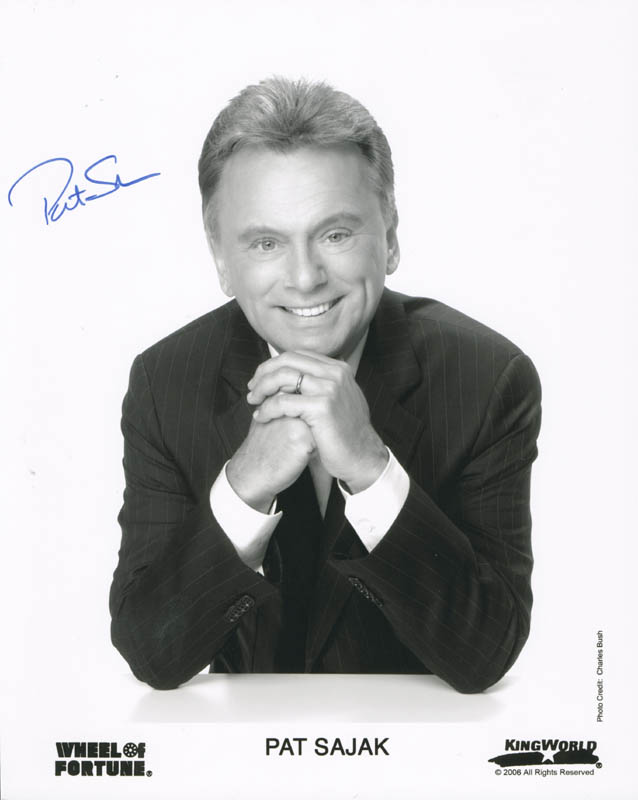 Image 1 for Pat Sajak - Autographed Signed Photograph - HFSID 277170