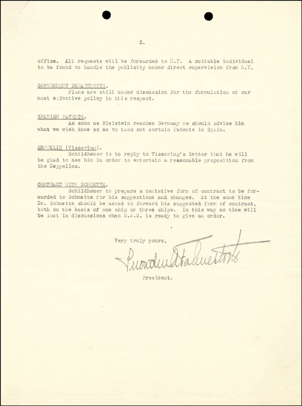Image 4 for President Franklin D. Roosevelt - Typed Letter Signed 04/04/1922 - HFSID 27726