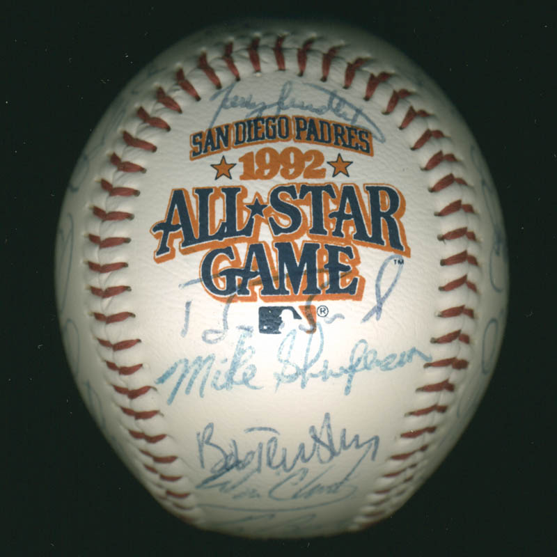 Image 1 for Baseball All-stars - Autographed Signed Baseball Circa 1992 with co-signers - HFSID 277290