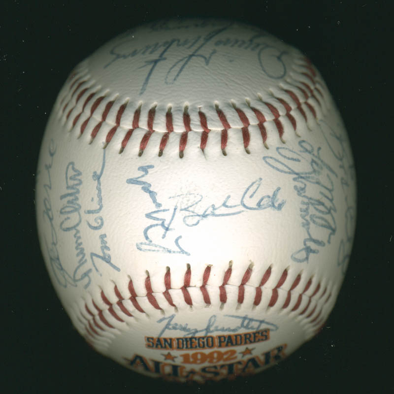 Image 3 for Baseball All-stars - Autographed Signed Baseball Circa 1992 with co-signers - HFSID 277290