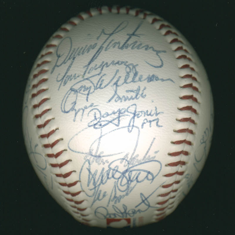 Image 6 for Baseball All-stars - Autographed Signed Baseball Circa 1992 with co-signers - HFSID 277290