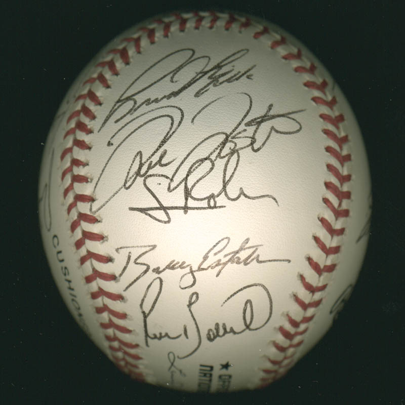Image 6 for The Philadelphia Phillies - Autographed Signed Baseball with co-signers - HFSID 277305