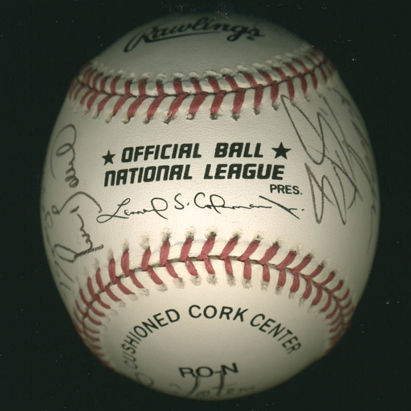 Image 7 for The Philadelphia Phillies - Autographed Signed Baseball with co-signers - HFSID 277305
