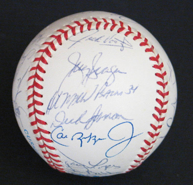 Image 1 for The Baltimore Orioles - Autographed Signed Baseball with co-signers - HFSID 277335