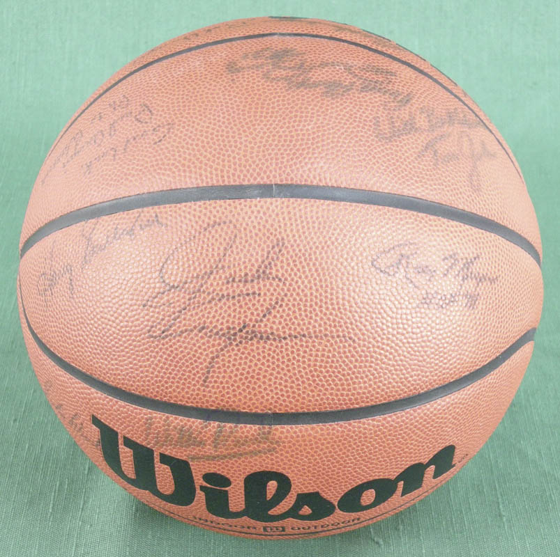 Image 3 for Sam Jones - Basketball Signed with co-signers - HFSID 277339