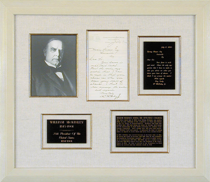 Image 1 for President William Mckinley - Manuscript Letter Signed 07/17/1890 - HFSID 27744