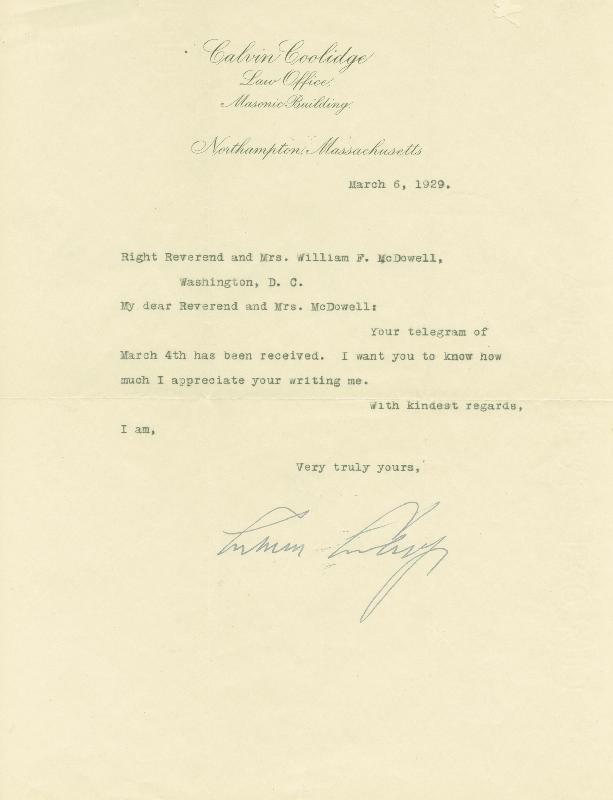 Image 1 for President Calvin Coolidge - Typed Letter Signed 03/06/1929 - HFSID 27745