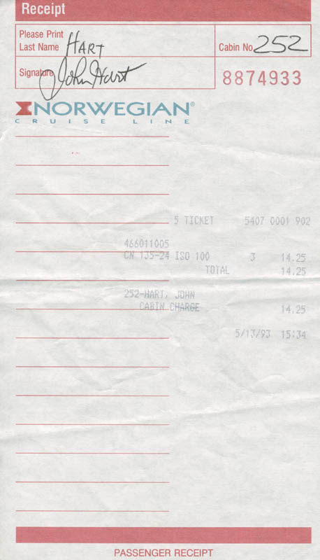 Image 1 for John Hart - Receipt Signed - HFSID 277455