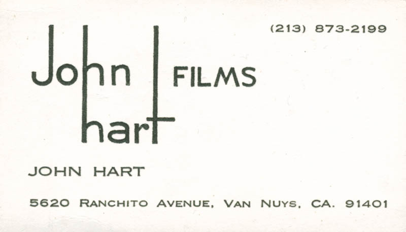 John hart business card unsigned autographs manuscripts john hart business card unsigned hfsid 277457 reheart Choice Image