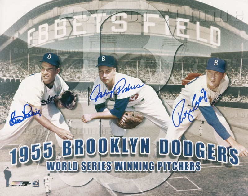 Image 1 for The Brooklyn Dodgers - Autographed Signed Photograph co-signed by: Johnny Podres, Clem Labine, Roger Craig - HFSID 277517