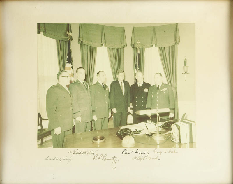 Image 1 for President John F. Kennedy - Photograph Mount Signed Circa 1961 with co-signers - HFSID 277534