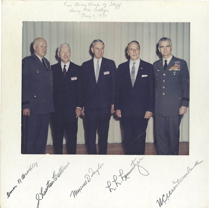 Image 1 for General Omar N. Bradley - Photograph Mount Signed 05/08/1970 with co-signers - HFSID 277547