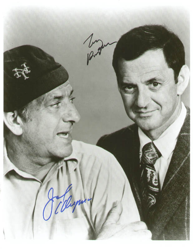 Image 1 for The Odd Couple TV Cast - Autographed Signed Photograph co-signed by: Jack Klugman, Tony Randall - HFSID 277631