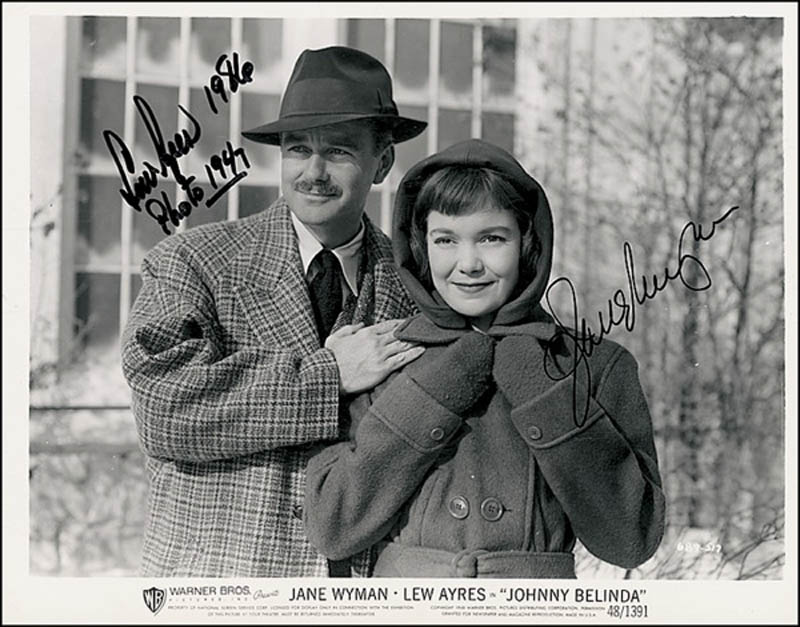 Image 1 for Johnny Belinda Movie Cast - Autographed Signed Photograph 1986 co-signed by: Jane Wyman, Lew Ayres - HFSID 277640