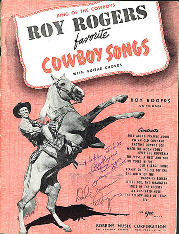 Image 1 for Roy Rogers - Sheet Music Signed co-signed by: Dale Evans - HFSID 277687