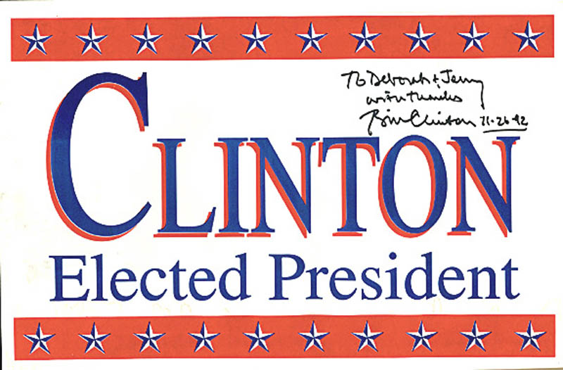 Image 1 for President William J. 'Bill' Clinton - Inscribed Ephemera Signed 11/26/1992 - HFSID 277695