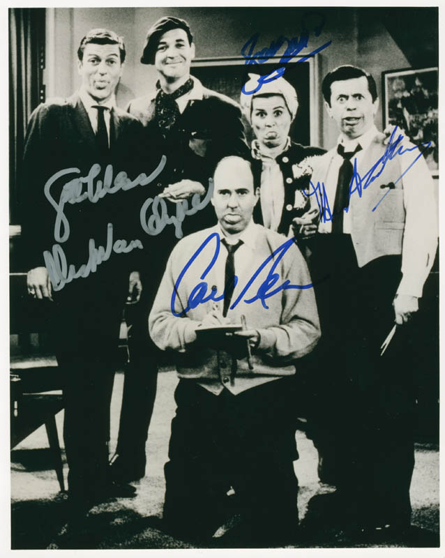 Image 1 for The Dick Van Dyke TV Cast - Autographed Signed Photograph co-signed by: Carl Reiner, Dick Van Dyke, Rose Marie, Morey Amsterdam - HFSID 277700
