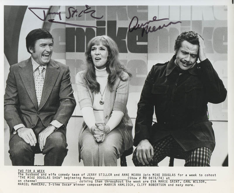 Image 1 for Jerry Stiller - Autographed Signed Photograph co-signed by: Anne Meara - HFSID 277747