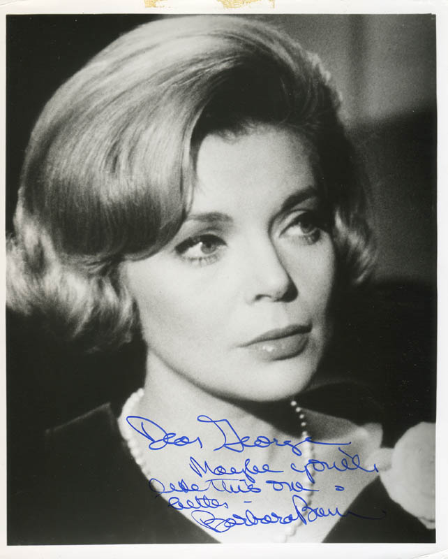 Image 1 for Barbara Bain - Autographed Inscribed Photograph - HFSID 277759
