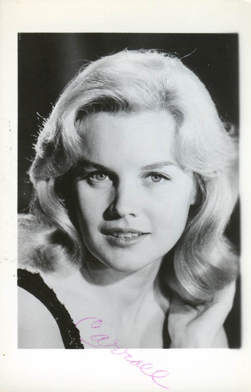 Image 1 for Carroll Baker - Inscribed Picture Postcard Signed - HFSID 277871