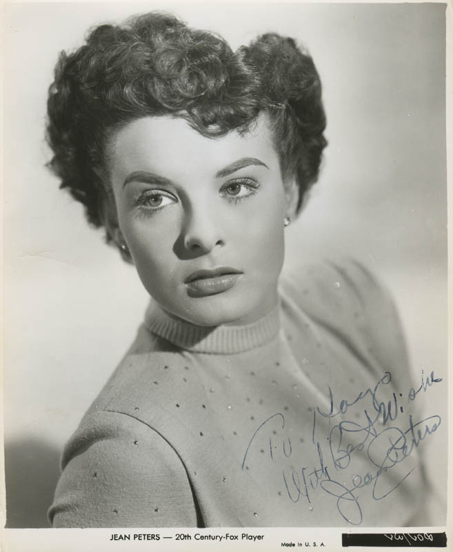 Image 1 for Jean Peters - Autographed Inscribed Photograph - HFSID 277923