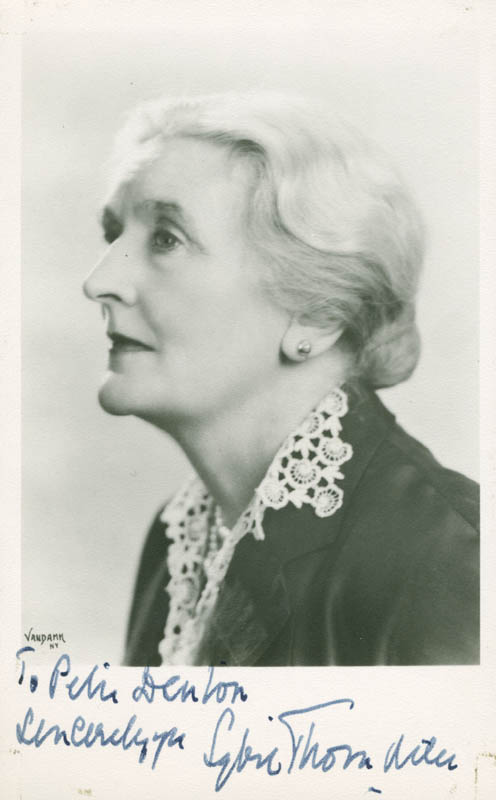 Image 1 for Dame Sybil Thorndike - Autographed Inscribed Photograph - HFSID 277931