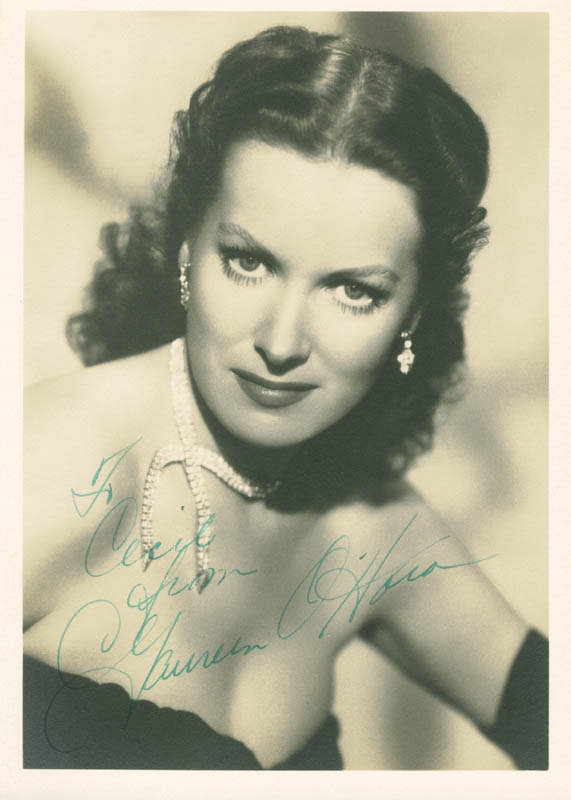 Image 1 for Maureen O'Hara - Autographed Inscribed Photograph - HFSID 277936