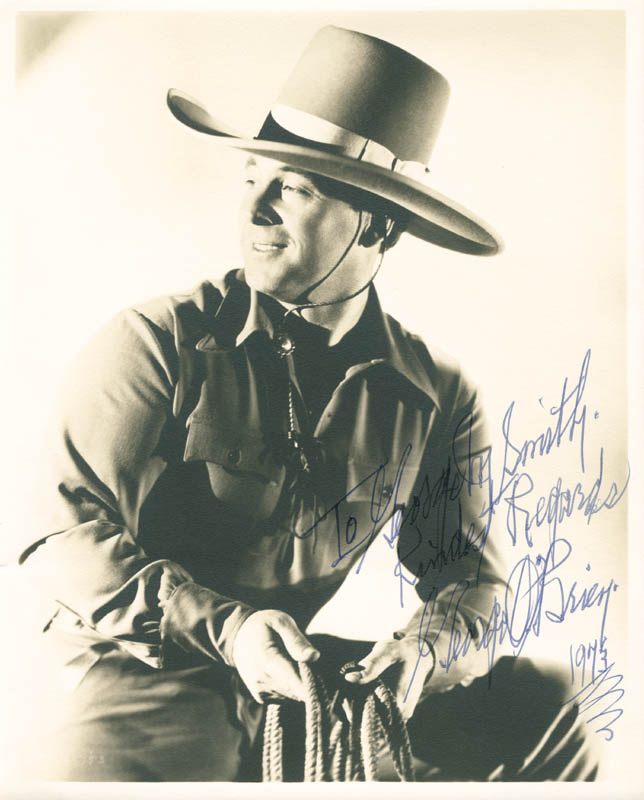 Image 1 for George O'Brien - Autographed Inscribed Photograph 1973 - HFSID 277944