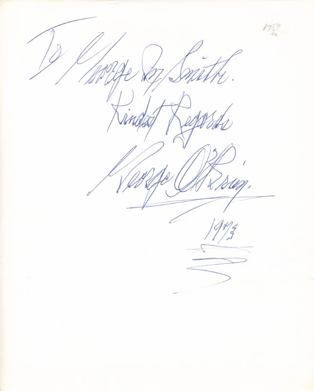 Image 3 for George O'Brien - Autographed Inscribed Photograph 1973 - HFSID 277944