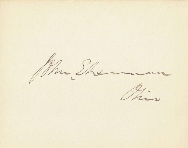 Image 1 for John Sherman - Autograph - HFSID 27795