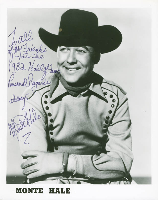 Image 1 for Monte Hale - Autographed Inscribed Photograph - HFSID 277958