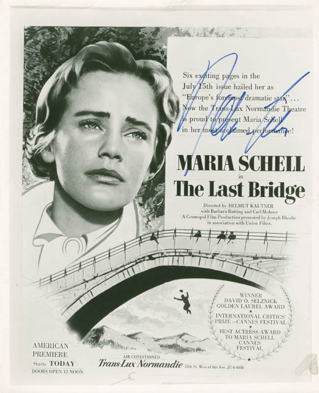 Image 1 for Maria Schell - Magazine Advertisement Signed - HFSID 277967
