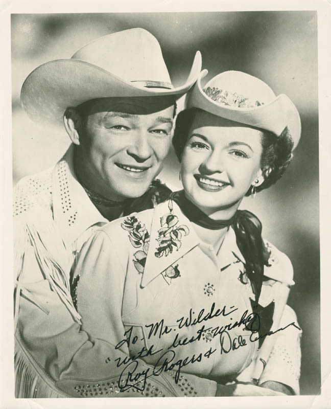 Image 1 for Roy Rogers - Autographed Inscribed Photograph co-signed by: Dale Evans - HFSID 278220