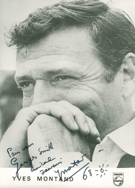 Image 1 for Yves Montand - Autographed Inscribed Photograph 1968 - HFSID 278229