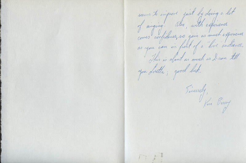 Image 1 for Ken Berry - Autograph Letter Signed 08/14/1957 - HFSID 278284