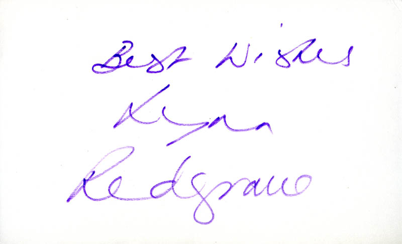 Image 1 for Lynn Redgrave - Autograph Sentiment Signed - HFSID 278309