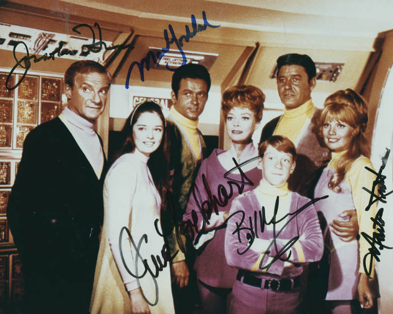 Image 1 for Lost In Space TV Cast - Autographed Signed Photograph co-signed by: Billy Mumy, June Lockhart, Mark Goddard, Jonathan Harris, Marta Kristen - HFSID 278379