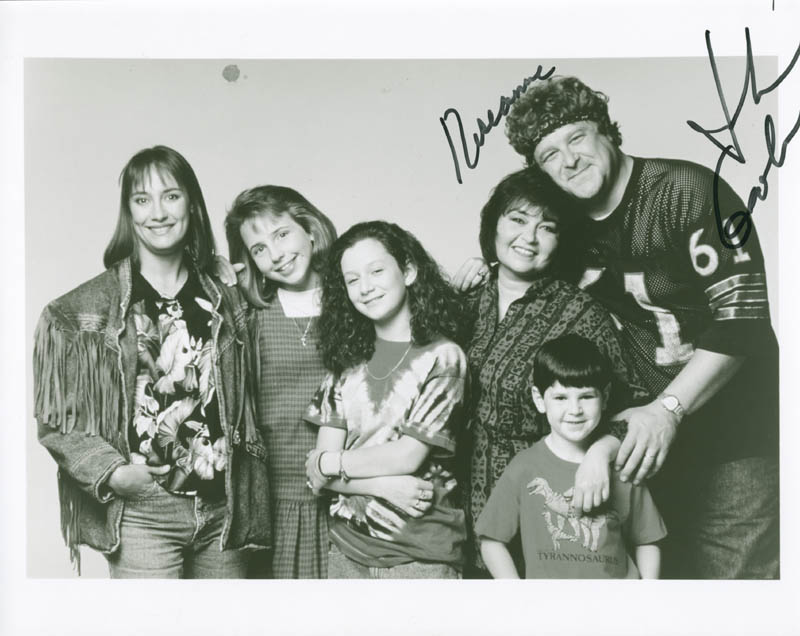Image 1 for Roseanne TV Cast - Autographed Signed Photograph co-signed by: John Goodman, Roseanne Barr - HFSID 278381