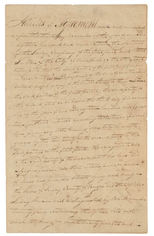 Image 1 for Robert Fulton - Manuscript Document Signed 11/03/1809 - HFSID 278467