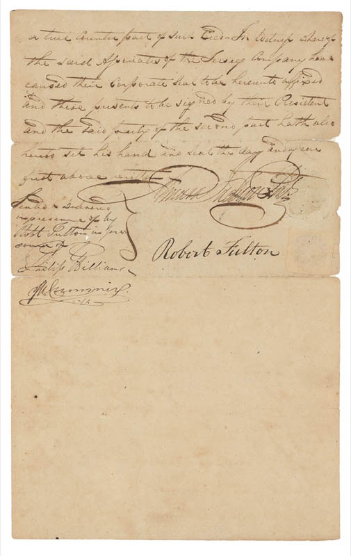 Image 4 for Robert Fulton - Manuscript Document Signed 11/03/1809 - HFSID 278467