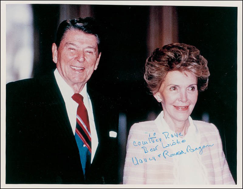 Image 1 for President Ronald Reagan - Autographed Inscribed Photograph co-signed by: First Lady Nancy Davis Reagan - HFSID 278477